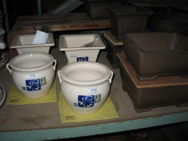 和風鉢、盆栽鉢のコーナー